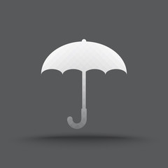 Vector of transparent umbrella icon on isolated background