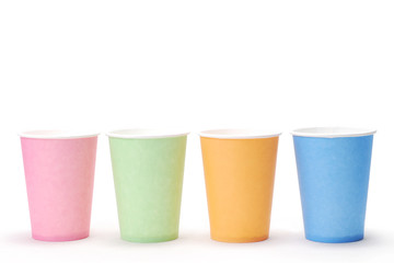 arrangement of recycling colorful paper glass