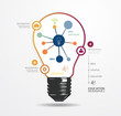 Modern Design light dot Minimal style infographic template / can
