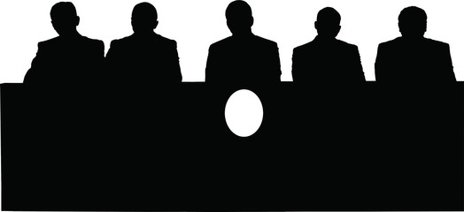Silhouette of politicians