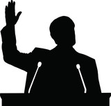 Silhouette of politician
