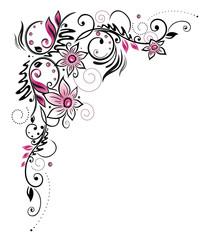 Sommer, Blumen, pink, schwarz