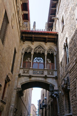 At the Gothic quarter in Barcelona, Spain