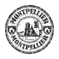 Montpellier grunge rubber stamp