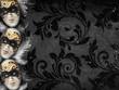 Vintage style dark masquerade background - 60536792