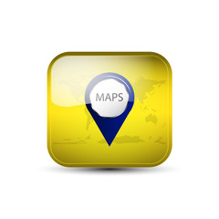 Web icon with maps button and earth background