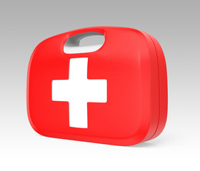 First aid kit with minimum design