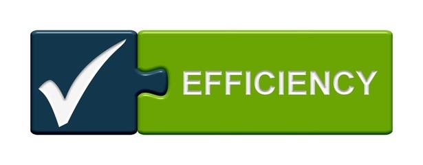 Puzzle.Button blau grün: Efficiency