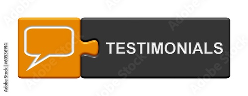 Puzzle-Button orange grau: testimonials