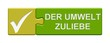 Puzzle-Button grün: Der Umwelt zuliebe