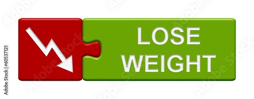 Puzzle-Button rot grün: Lose Weight