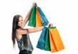 Mädchen auf Shoppingtour