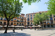 Plaza de Zocodover in the historic city of Toledo in Spain