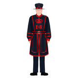 Beefeater soldier - Yeoman warder – Royal guard – London