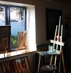 atelier d'artiste peintre