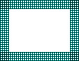 Teal Gingham Frame