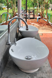 outdoor taps and washbasins