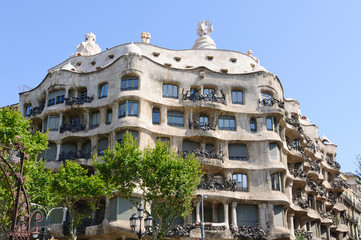 Casa Milà in Barcelona, Spain