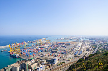 The port of Barcelona, Spain