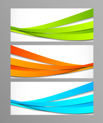 Set of wavy banners