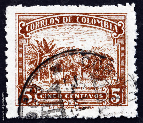 Postage stamp Colombia 1932 Coffee Cultivation, Plantation
