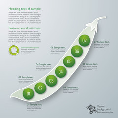 Infographics Vector Background ECO