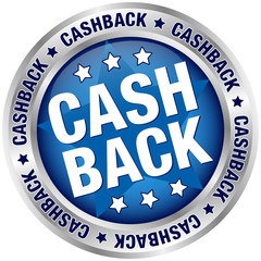 "Button ""Cashback"" Blue/Silver"
