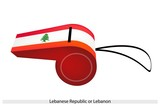 A Whistle of The Lebanese Republic Flag