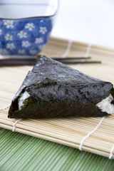 japanese rice with seaweed