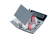 Wohnhaus auf Taschenrechner