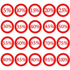 векторный баннер распродажа проценты