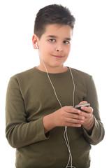 Cute Boy Listening Music