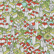 Modern Eco City seamless pattern
