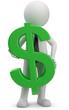 Männchen mit Dollar Symbol
