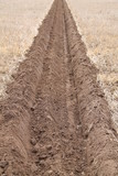 A Deep Ploughed Furrow on a Farmers Field.