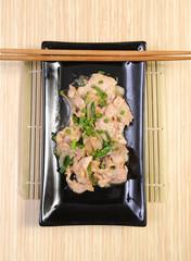 rice with fried pork