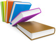 umgefallene Bücher