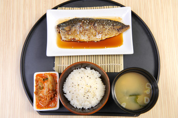 japan food set fish