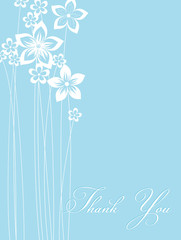 floral card blue