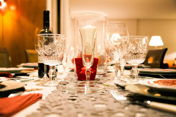 Fine table setting at home