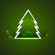 Beautiful christmas tree on blue background Vector