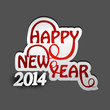 Beautiful happy new year 2014 stylish text colorful vector