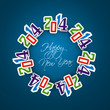 Happy New Year creative stylish 2014 colorful background vector
