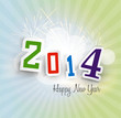 Beautiful 2014 happy new year shining colorful background vector