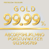 Pure Gold Alphabet and Digit Vector