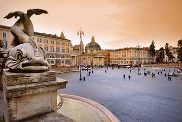 Piazza de Popolo, Rome