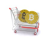 Shopping cart with bitcoin