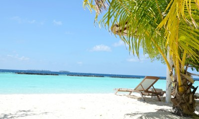 lonely, beautiful beach with amazing view