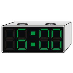 vector drawing of a clock