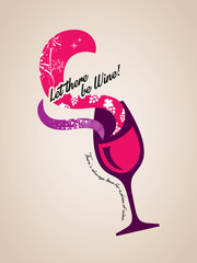 wine glass concept Illustration